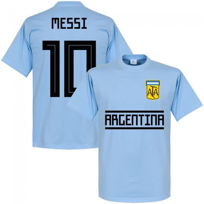 SALEセールRE-TAKE(リテイク)No10メッシアルゼンチン代表2018TeamTシャツ(スカ