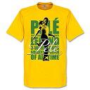 ★SALE★セール★RE-TAKE(リテイク) ペレ Legend Tシャツ(イエロー)【サッカー サポーター グッズ Tシャツ】