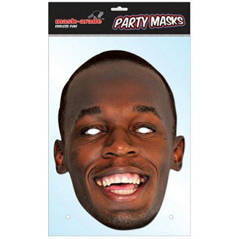 ウサイン・ボルト パーティーマスク【Usain Bolt】【サッカー サポーター グッズ】【スポーツ ホビー】【店頭受取対応商品】