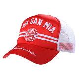 バイエルンミュンヘン オフィシャル メッシュキャップ(MIA SAN MIA)【サッカー サポーター グッズ 帽子 キャップ】