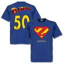 ★SALE★セール★RE-TAKE(リテイク) ズラタン・イブラヒモビッチ Superman Tシャツ(ブルー)【サッカー サポーター グッズ Tシャツ】