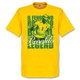 【】RE-TAKE ブラジル代表 ロナウド Legend Tシャツ(イエロー)【サッカー サポーター グッズ Tシャツ】