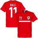 ★SALE★セール★RE-TAKE(リテイク) ベイル No.11 ウェールズ Banner Tシャツ(レッド)【サッカー サポーター グッズ Tシャツ】
