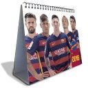 バルセロナ オフィシャル 2016 卓上 カレンダー【サッカー デスクトップ カレンダー】