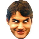 ★SALE★セール★ロジャー・フェデラー パーティーマスク【Roger Federer】【期間限定:10/14〜10/28正午迄】
