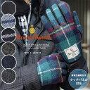 50%OFF☆ヘミングス Harris Tweed ハリスツイード N3/4E メンズグローブ【男性用 手袋 スマートフォン タッチパネル操作可 羊革】