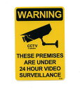 WARNING(CCTV)ステッカー