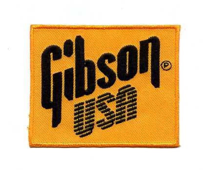 Gibson(ギブソン)ワッペン四角イエローギター楽器