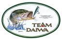 TEAM DAIWA(チーム ダイワ)楕円ステッカー〔フィッシング ルアー イラスト 釣り ブラックバス〕
