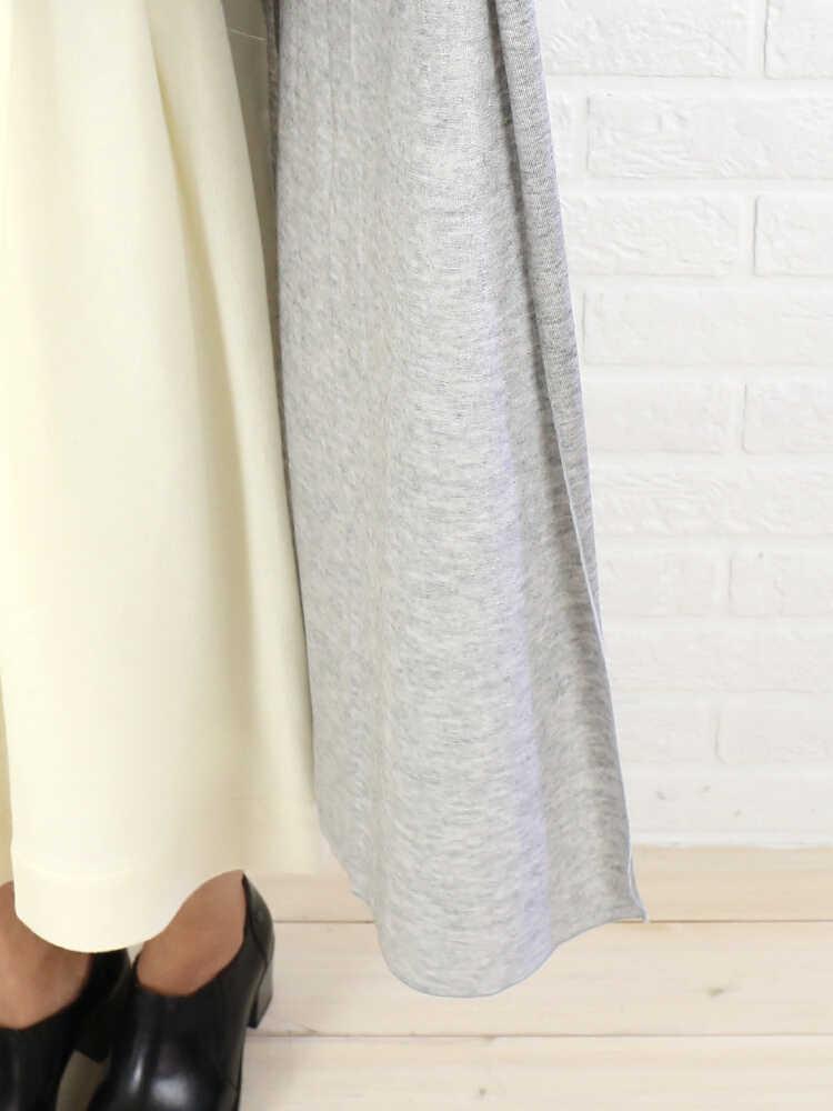 【ふるさと割】dolly-sean(ドリーシーン)ウール混 長袖 ロングカーディガン・M-8290-0521502【レディース】