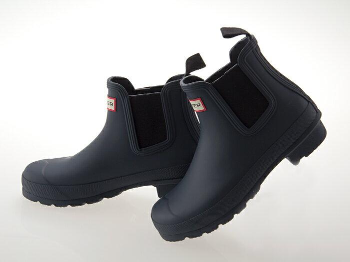 ≪即日発送可能商品≫ [ハンター] HUNTER WOMENS ORIGINAL CHELSEA SHORT BOOT ハンター ウィメンズ オリジナル チェルシー ショートブーツ サイドゴア 長靴 ラバー レインブーツ レディース・メンズサイズ NAVY ネイビー #WFS1043RMA-NAVY