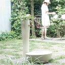 立水栓・水栓柱:水栓柱-ポッシュ・アイボリー(パン/蛇口/補助蛇口付)[W-188]【fsp2124-6f】【あす楽対応不可】【全品送料無料】