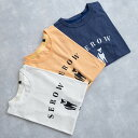 MofM (man of moods) オリジナル Tシャツ SEROW (3色 WHITE/YELLOW/NAVY) 1810-CS02 マンオブムーズ カットソー コンセプト みなかみ 群馬 日本製 メンズ 送料無料