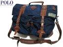 【新品】Polo Ralph Lauren ラルフローレン ナイロン×レザー メッセンジャーバッグ 紺×茶 【Nylon Messenger Bag】【ショルダーバッグ】【2WAY】【smtb-m】【あす楽対応】【古着屋mellow楽天市場店】