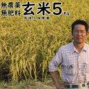 無肥料栽培米5Kg//玄米|福岡県産 夢つくし筑後久保農園無...