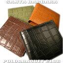 あこがれのクロコダイル財布が安すぎっ♪財布/二つ折り財布/メンズ/本皮/クロコダイル型押SANTA BARBARA POLO&RACQUET CLUB