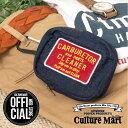 ショッピングアイコス CULTURE MART(カルチャーマート) DENIM POUCH デニムポーチワッペン ベルトループコットン カラビナ付き アイコス IQOS 携帯にぴったりサイズアメリカ アメカジ アメリカン
