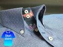 かりゆしウェア結婚式に アロハシャツ 沖縄 メンズ ボタンダウン 半袖 クールビズ Yシャツ ワイシャツ 【楽ギフ_包装】 【rcp】 おしゃれ 限定 紅型 紺 ネイビー ドット ( msdt-nv01-4817 )