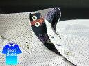かりゆしウェア結婚式に アロハシャツ 沖縄 メンズ ボタンダウン 半袖 クールビズ Yシャツ ワイシャツ 【楽ギフ_包装】 【rcp】 おしゃれ 限定 紅型 白×黄×紺 ホワイト ドット ( msdt-wt02-4817 )