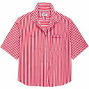 ショッピングトミー トミー ジーンズ Tommy Jeans レディース ブラウス・シャツ トップス【Summer Stripe Shirt】Bright Red