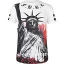 ショッピングリバティ ファブリック Fabric メンズ Tシャツ トップス【Sublimation T Shirt】Liberty White