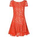 グラマラス レディース トップス ワンピース【Glamorous Lace Skater Dress】Red