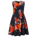 スタジオ8 レディース ドレス パーティドレス【Studio 8 Plus Size Harper print dress】Multi-Coloured