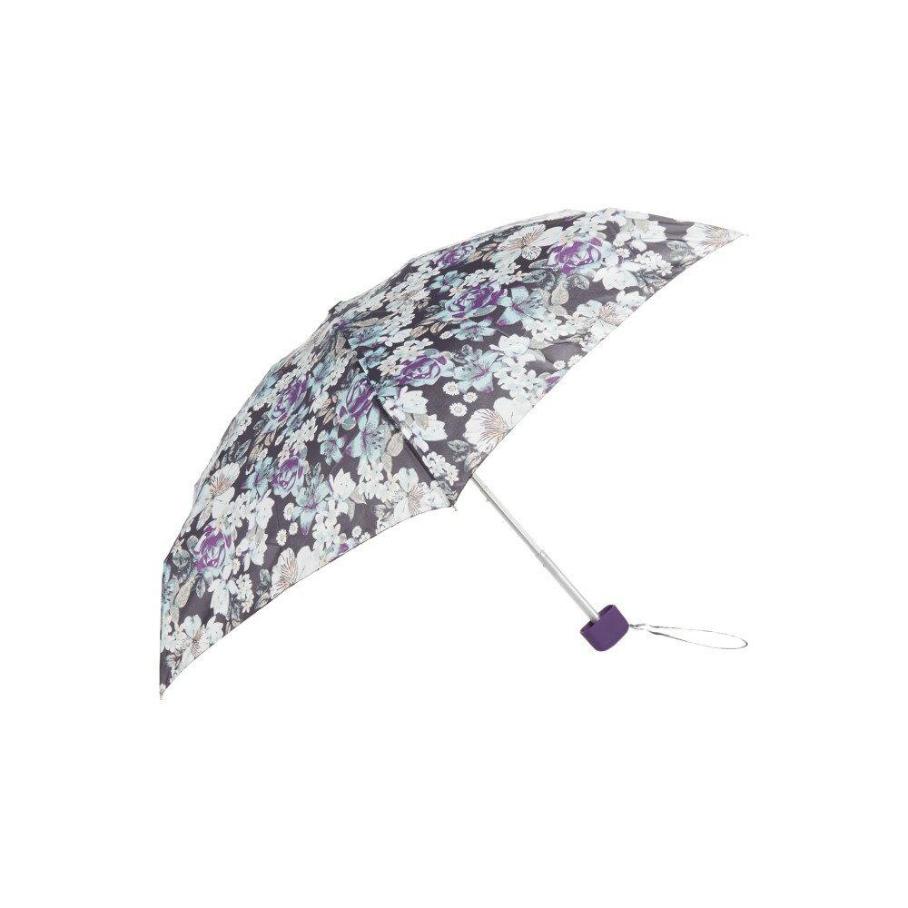 フルトン レディース アクセサリー 傘【Fulton Tiny visual rotary  floral print umbrella】Purple フルトン レディース アクセサリー 傘 【サイズ交換無料】