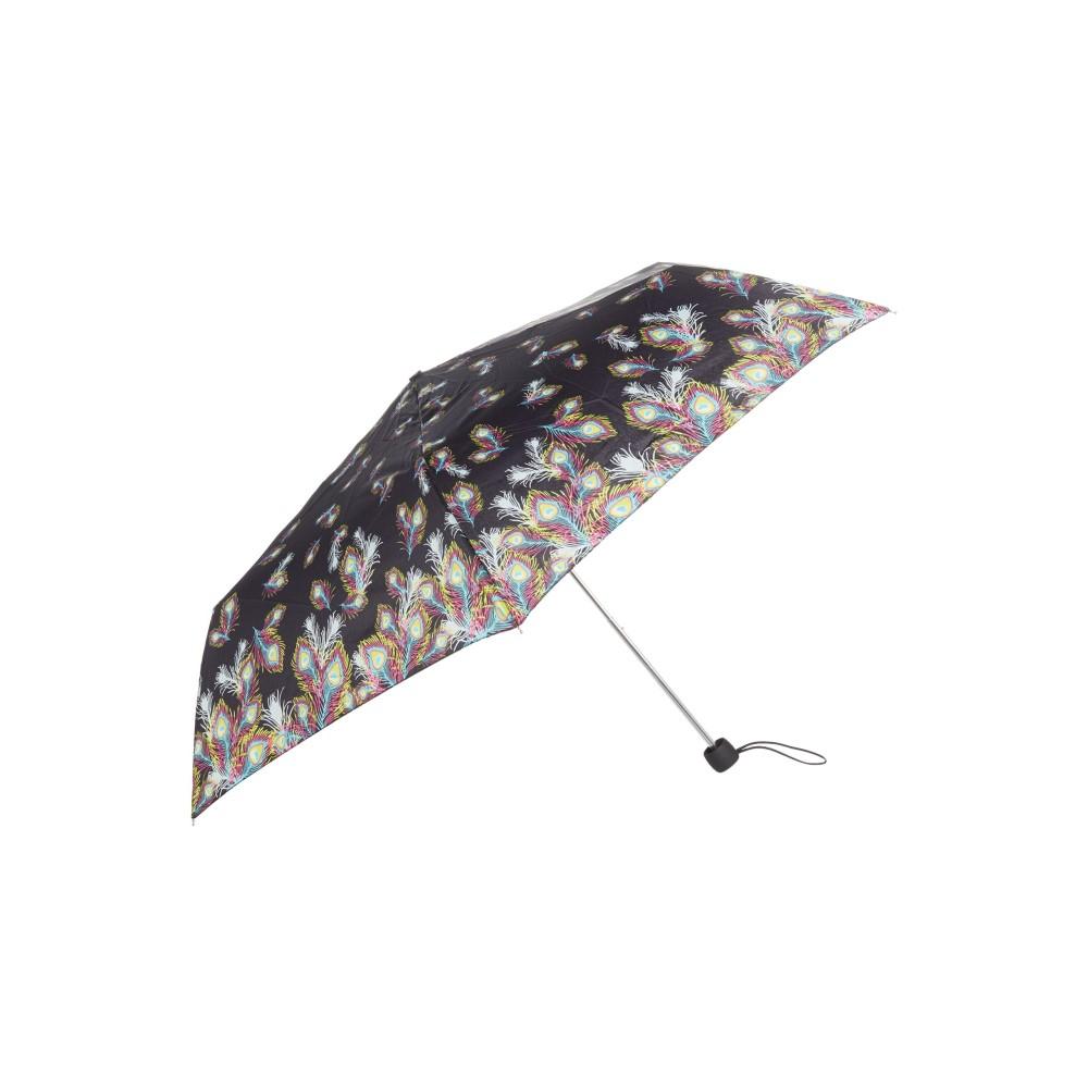フルトン レディース アクセサリー 傘【Fulton Superslim peacock umbrella】black multi フルトン レディース アクセサリー 傘 【サイズ交換無料】