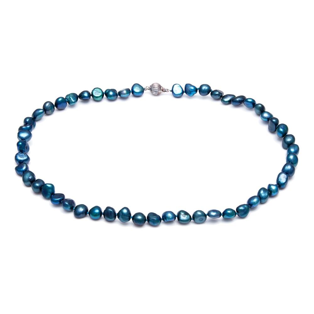 キョートパール レディース アクセサリー ネックレス【Kyoto Pearl Saphire Blue Baroque Pearl Necklace】 キョートパール レディース アクセサリー ネックレス 【サイズ交換無料】