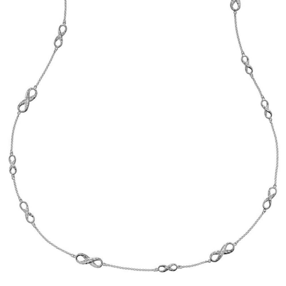 ダワーアンドホール レディース アクセサリー ネックレス【Dower & Hall Entwined Silver Long Infinity Necklace】 ダワーアンドホール レディース アクセサリー ネックレス 【サイズ交換無料】