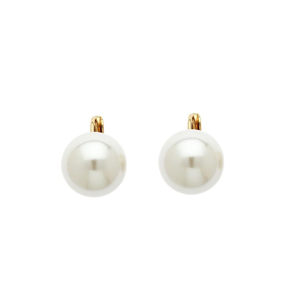 リリアンドコエ レディース アクセサリー イヤリング・ピアス【Lilli & Koe Gold 14mm white pearl lever earrings】 リリアンドコエ レディース アクセサリー イヤリング・ピアス 【サイズ交換無料】
