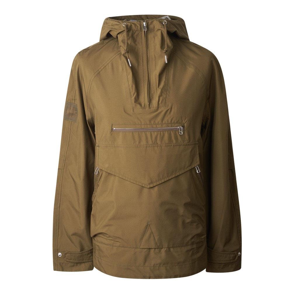 プリティー グリーン メンズ アウター レインコート【Water Resistant Overhead Hooded Jacket】khaki
