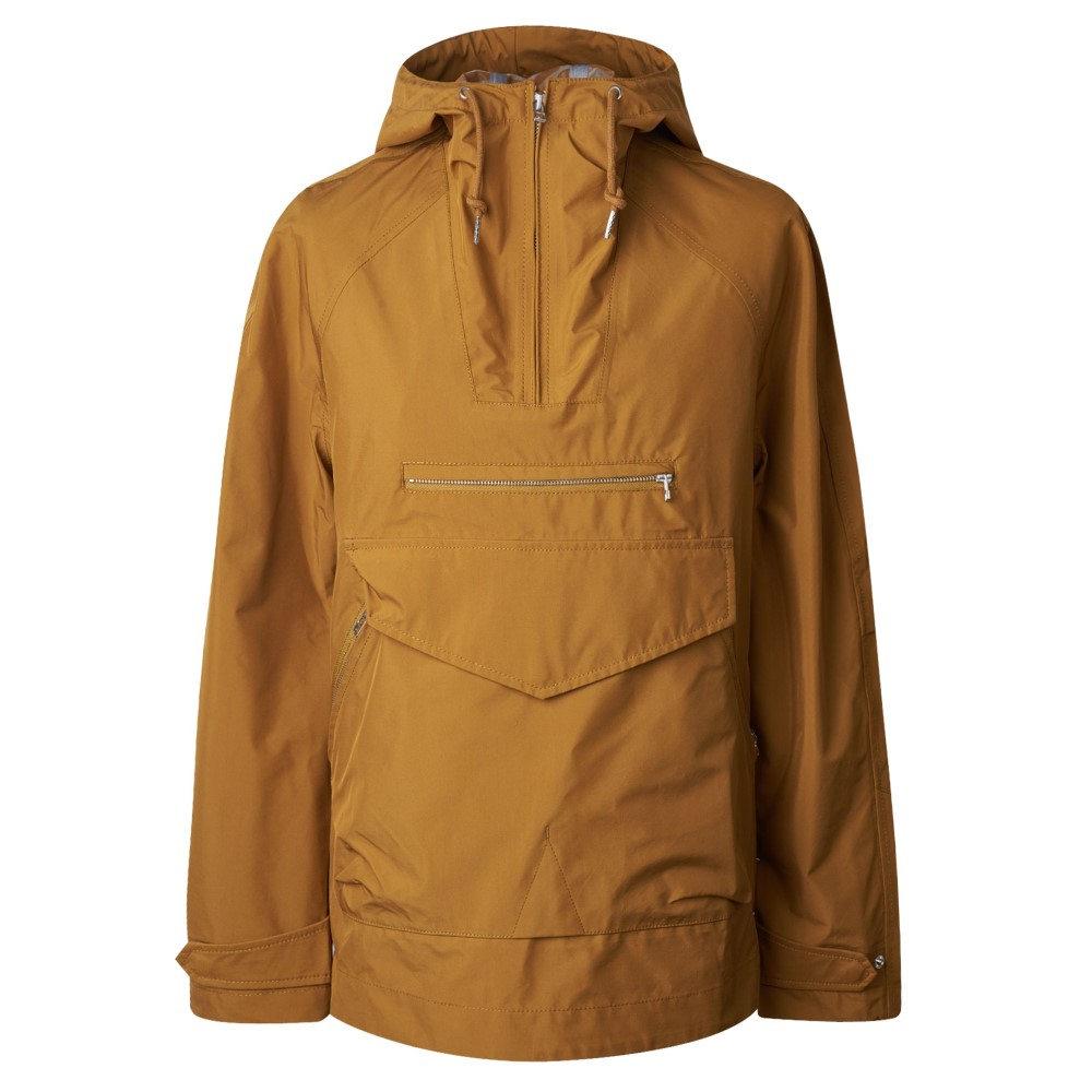 プリティー グリーン メンズ アウター レインコート【Water Resistant Overhead Hooded Jacket】mustard