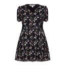 ユミ レディース ワンピース・ドレス ワンピース【Floral Short Sleeve Dress】black