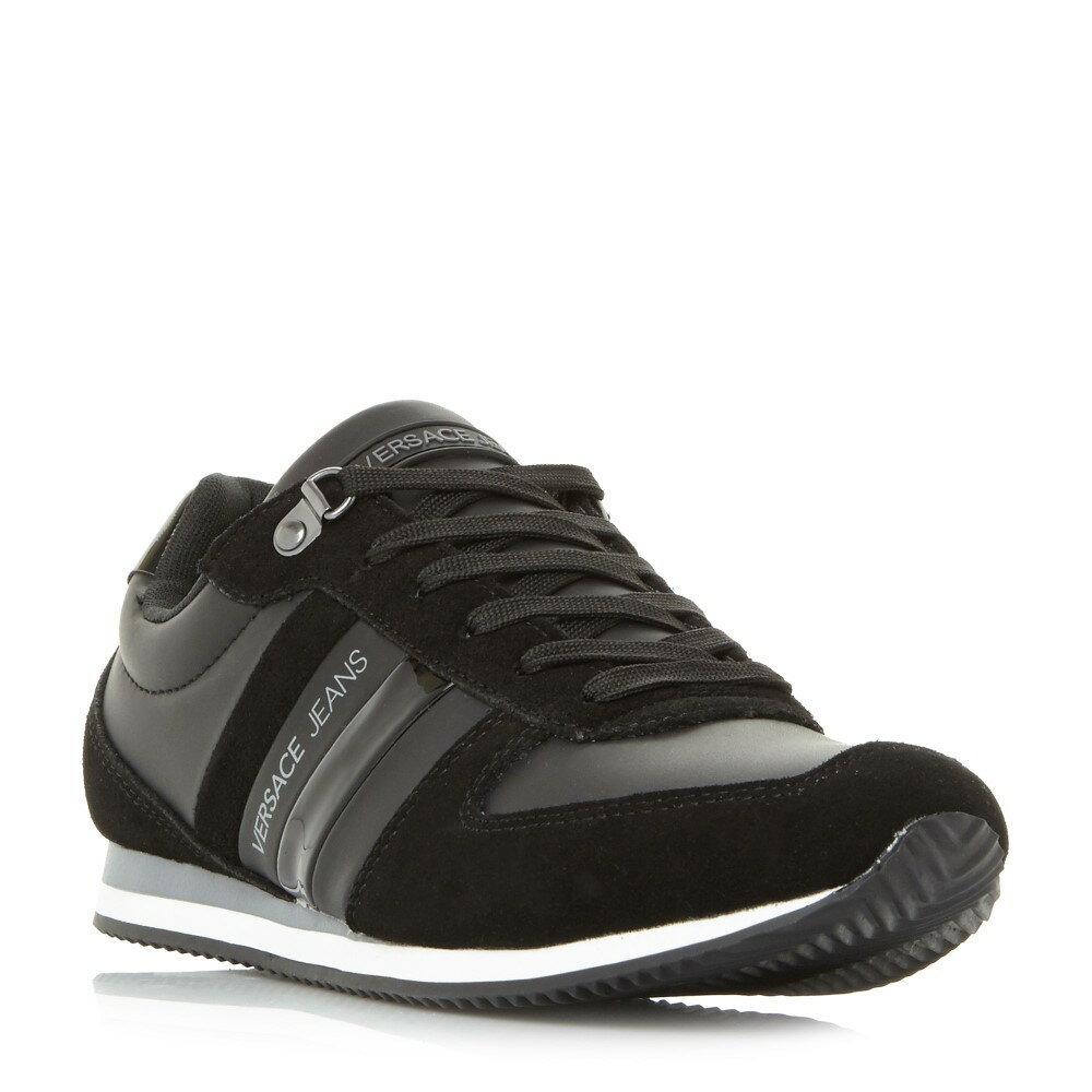 1e8465579d60 ヴェルサーチ メンズ シューズ・靴 スニーカー【E0yrbsa1 Combo Mudguard Lace Up Trainers】black  ヴェルサーチ メンズ シューズ・靴 スニーカー 【サイズ交換無料】