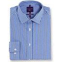 ショッピングその他 ダブルTWO Double TWO メンズ トップス【Slim Fit 100 Percent Cotton Non Iron Shirt】Blue