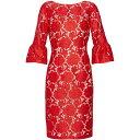 ジーナ バッコーニ Gina Bacconi レディース ワンピース・ドレス ワンピース【Genoveva Embroidered Dress】Red