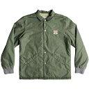 クイックシルバー Quicksilver メンズ ジャケット コーチジャケット アウター【Kaimon Sherpa Lined Coaches Jacket】Green