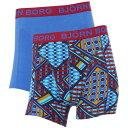 ショッピングemu ビヨン ボルグ Bjorn Borg メンズ ボクサーパンツ インナー・下着【Le Louvre trunks】Blue Multi