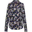 ショッピングTOMMY トミー ヒルフィガー Tommy Hilfiger レディース ブラウス・シャツ トップス【Rae Flower Print Shirt】Navy