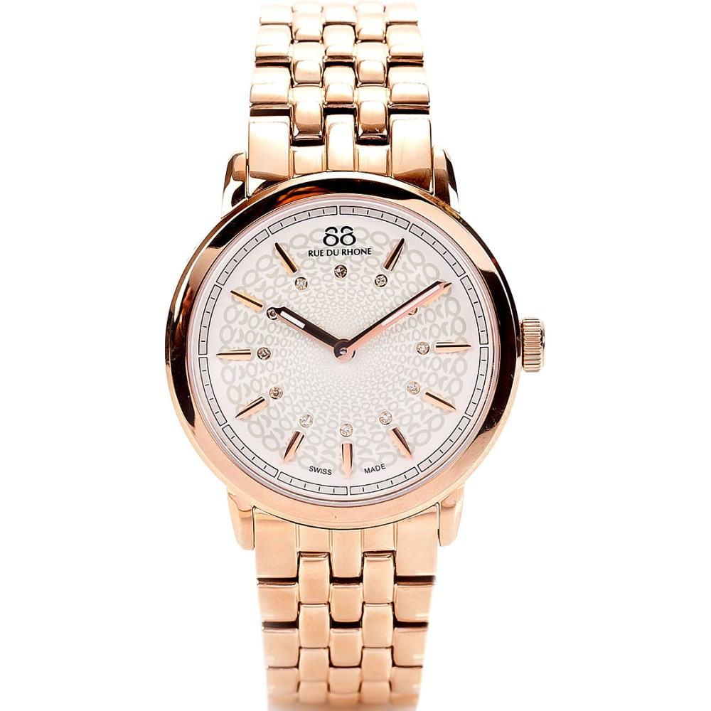 リュードゥローヌ 88 rue du rhone レディース アクセサリー 腕時計【87wa120013 rose gold pvd watch】Rose gold リュードゥローヌ レディース アクセサリー 腕時計 【サイズ交換無料】