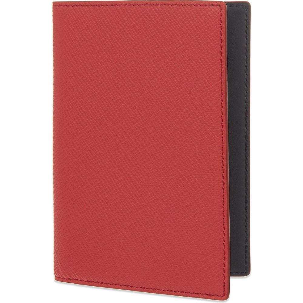 スマイソン smythson メンズ アクセサリー パスポートケース【panama leather passport cover】Red