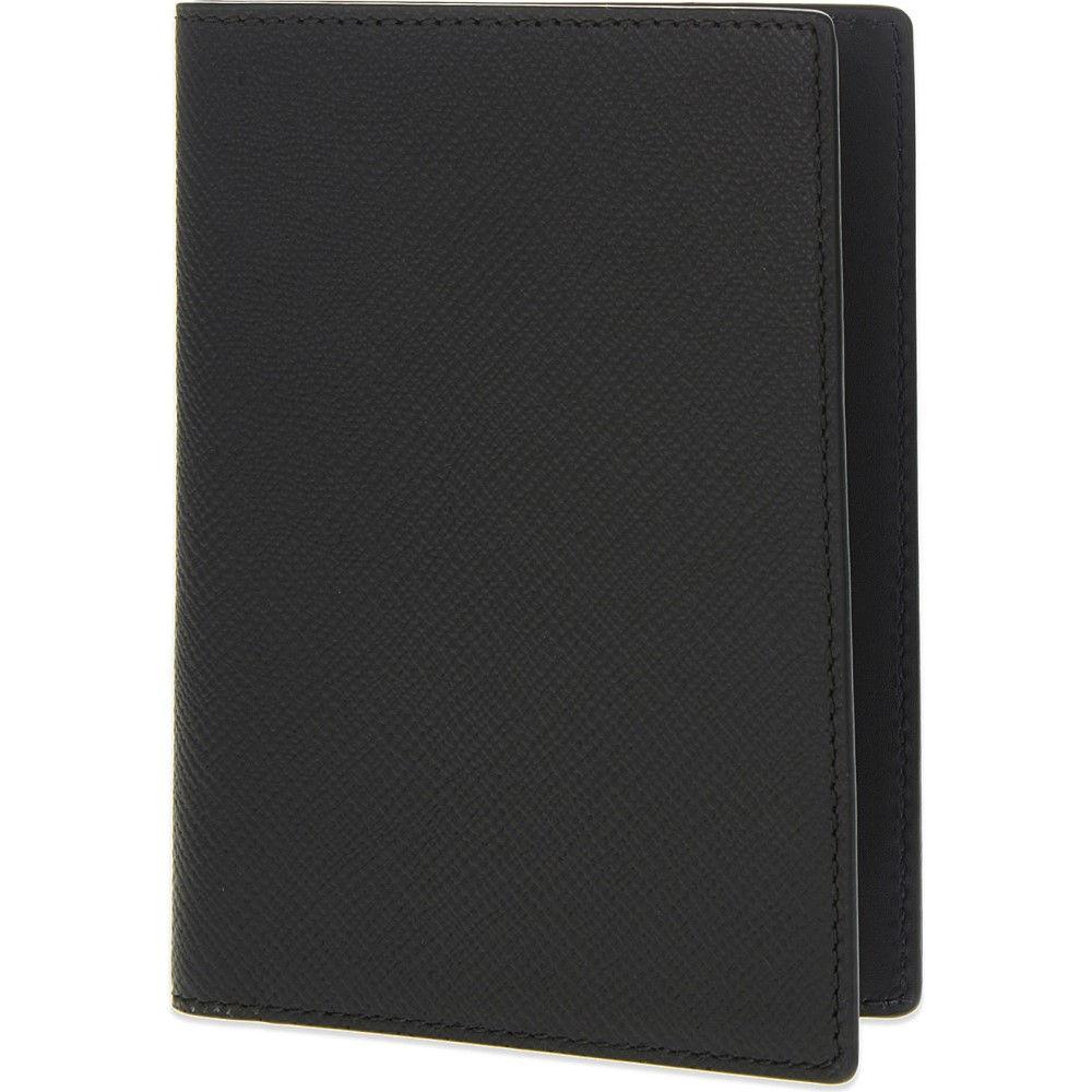 スマイソン smythson メンズ アクセサリー パスポートケース【panama leather passport cover】Black