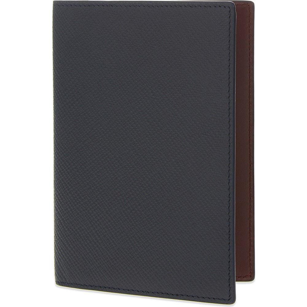 スマイソン smythson メンズ アクセサリー パスポートケース【panama leather passport cover】Navy