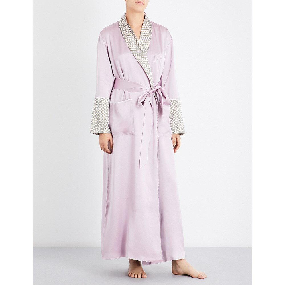 オリヴィア ヴォン ホール olivia von halle レディース インナー・下着 ガウン・バスローブ【capability six silk-satin dressing gown】Six