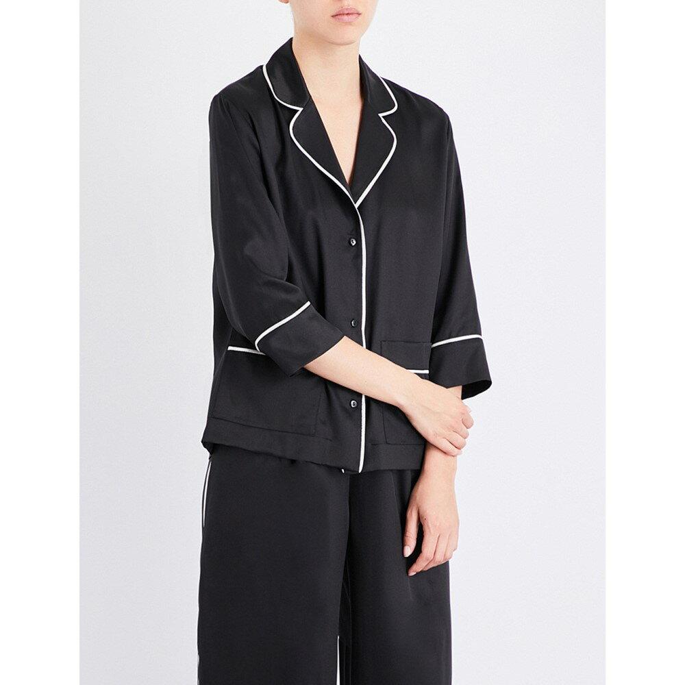 カリーヌ ギルソン carine gilson レディース インナー・下着 パジャマ・上下セット【relaxed-fit silk-twill pyjama set】Black argent black