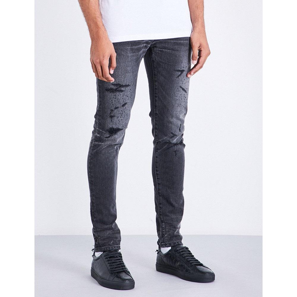 バルマン balmain メンズ ボトムス・パンツ ジーンズ・デニム【slim-fit skinny distressed jeans】Black