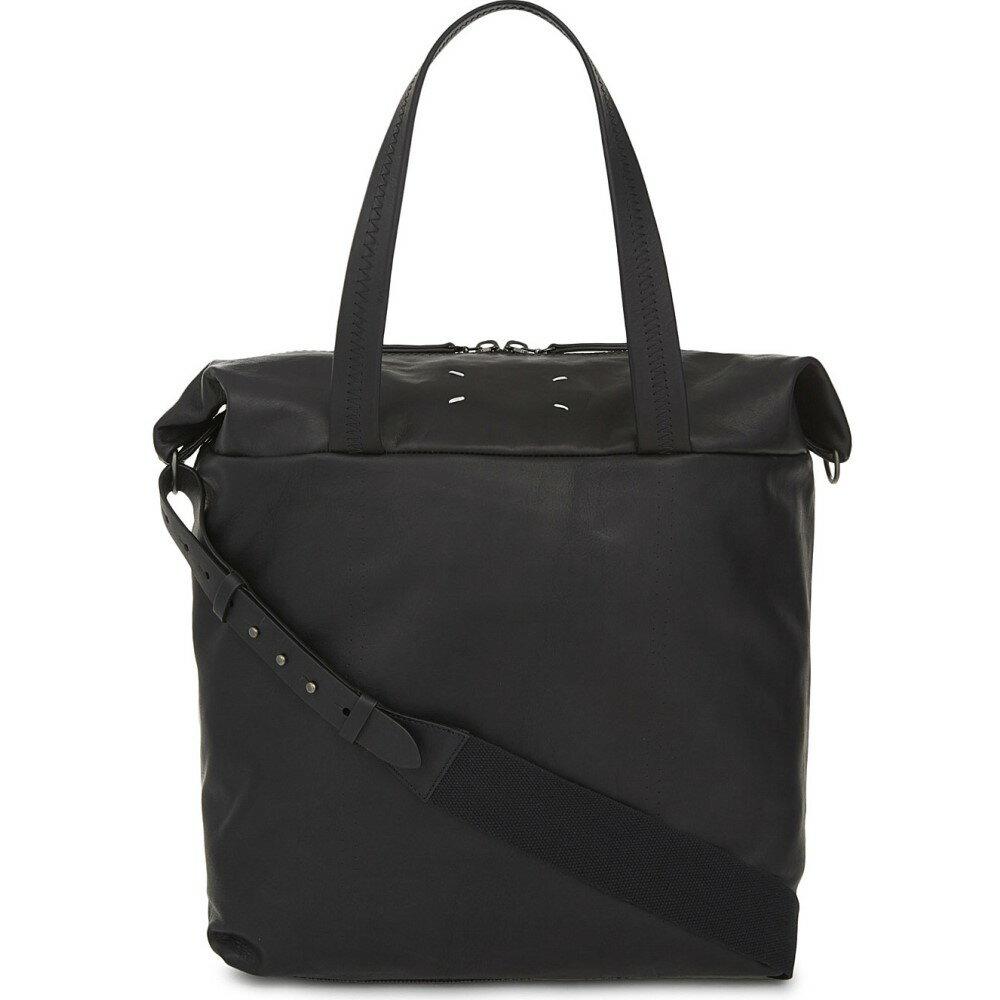 エムエム6 メゾン マルジェラ maison margiela メンズ バッグ ボストンバッグ・ダッフルバッグ【embroidered leather holdall】Black