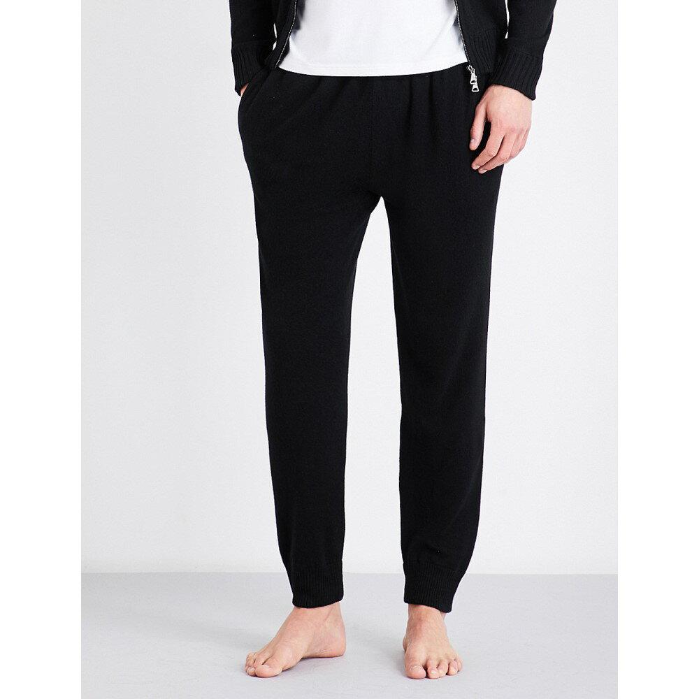 デリック ローズ メンズ インナー・下着 パジャマ・ボトムのみ【finley cashmere pyjama bottoms】Black